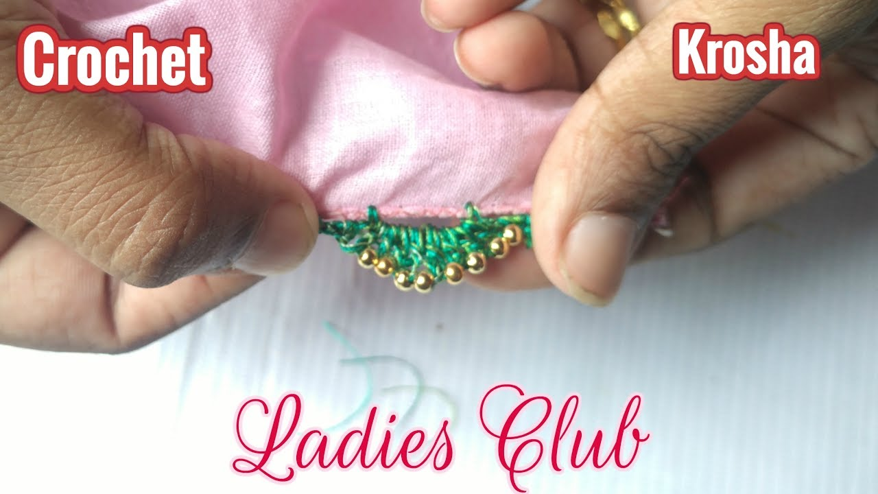 Download How to Add beads to Crochet / Krosha Saree Tassels I tutorials for Beginners