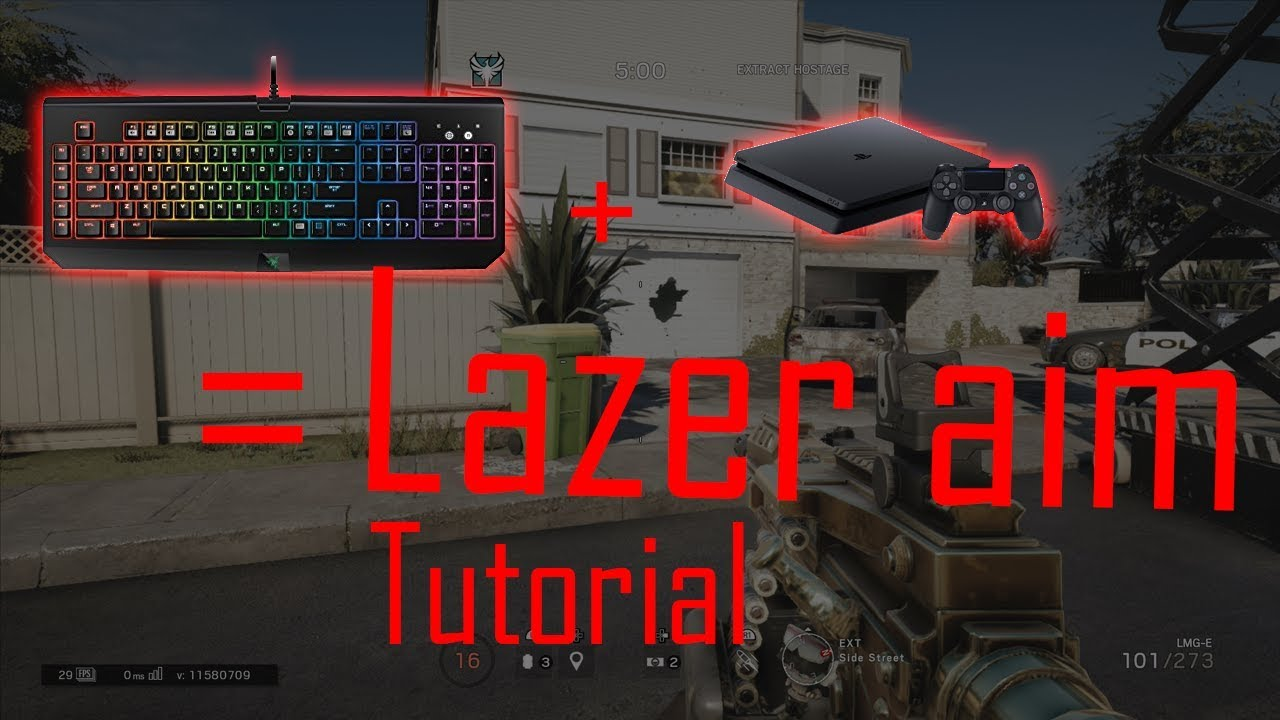 Tutorial Use a mouse and keyboard on PS4 any Game
