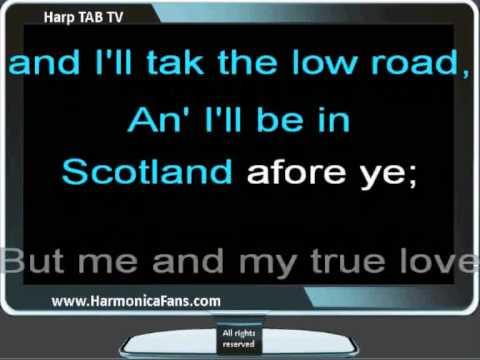 Loch Lomond - Harmonica video TAB