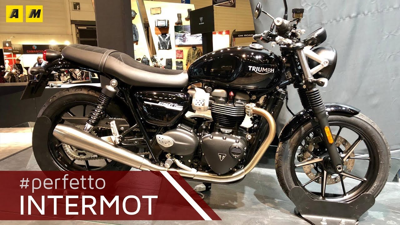 triumph street twin e street scrambler intermot 2018. Black Bedroom Furniture Sets. Home Design Ideas