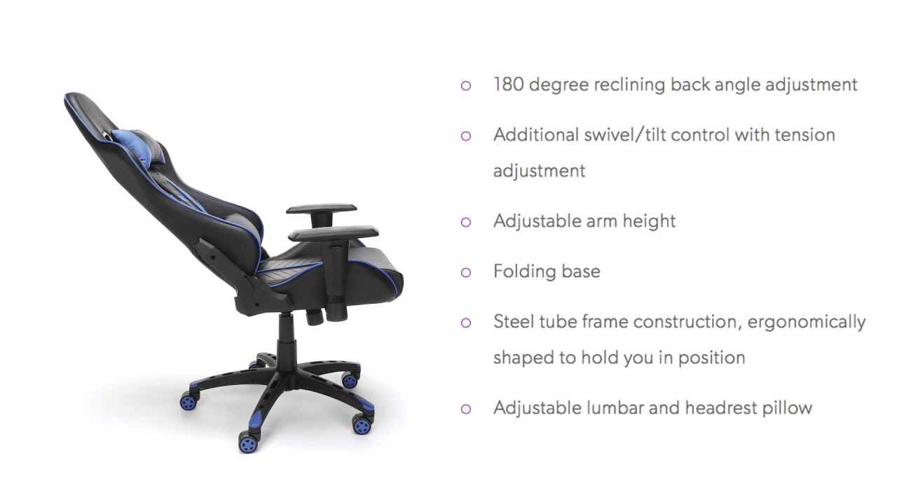 ESS 6065 ESSENTIALS BY OFM RACING STYLE GAMING CHAIR
