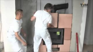 TiM Kominki | Jak wykonać obudowę kominka z płyt akumulacyjnych?
