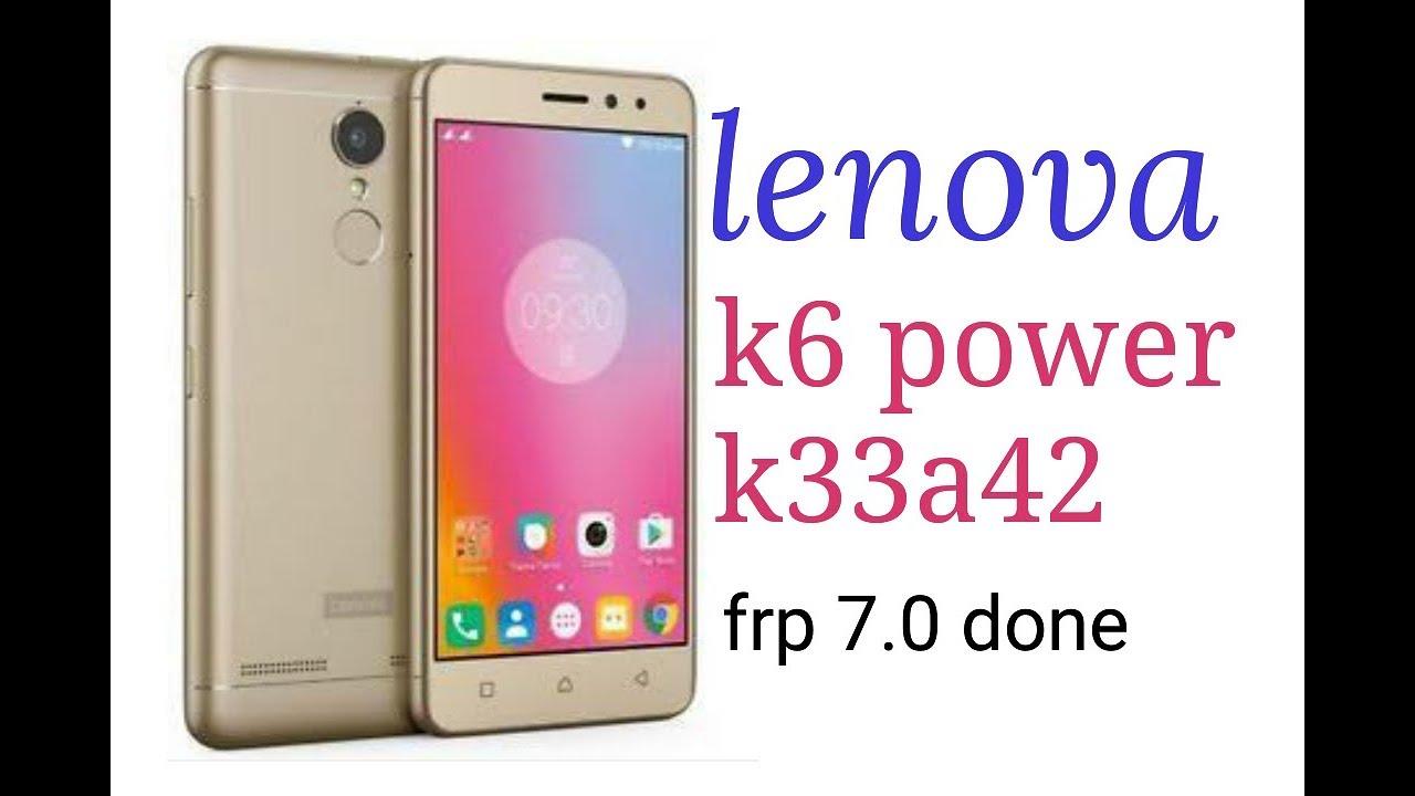 lenovo k33a42 frp remove with free tool || lenovo k6 power frp remove done  one click