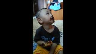 Funny Video Baby Eating Donuts Happy Face Inside