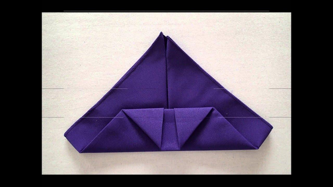 Napkin folding instructions for the pyramid napkin fold - Napkin Folding Instructions For The Pyramid Napkin Fold 9
