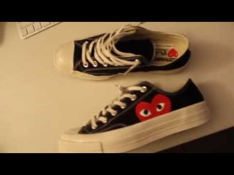 a1390e198351 Comme des Garcons PLAY Low Top Converse Chuck Taylor Unboxing 2016 ...