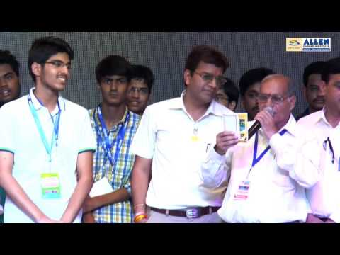 ALLEN's IIT-JEE 2016 Victory Celebration - Medals & Awards Distribution for Top 10