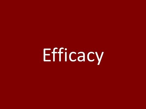 efficacy-meaning