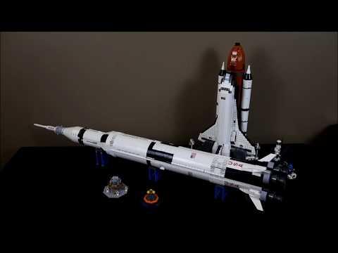 Comparing the Lego Apollo Saturn V to the Lego Space Shuttle Adventure