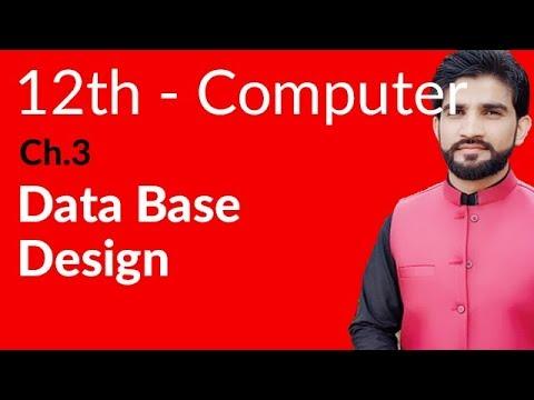 ICS Computer Part 2- Ch 3 - Database Design - Inter Part 2 Computer
