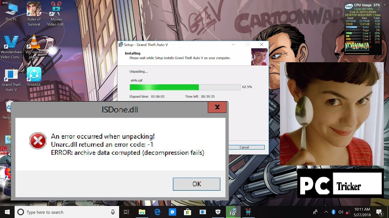 How to fix and install Any Fitgirl Repack GTA 5 Game ISDone dll on Windows  10