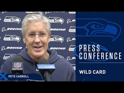 Seahawks Head Coach Pete Carroll Wild Card Thursday Press Conference