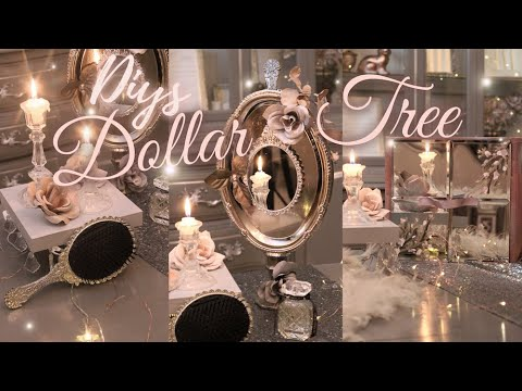3 Romantic Dollar Tree Diys for Bedroom, Bathroom or Beauty Room – Vintage, French, Whimsical