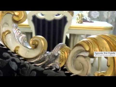 Tapicería arte españa   mueble clásico luis xv tallado a mano ...