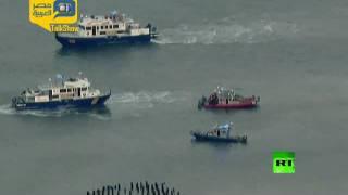 فيديو.. لحظة تحطم طائرة أعلى نهر هدسون بأمريكا