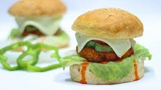 Paneer Tikki Burger | मार्केट से अच्छा पनीर टिक्की बर्गर | Veg Burger Recipe | KabitasKitchen