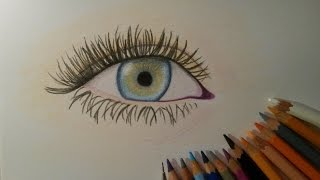 How to draw an eye with colored pencils (easy way)