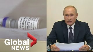 Russia approves first COVID-19 vaccine, Putin says his daughter was inoculated