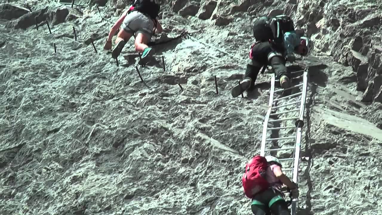 Klettersteig Daubenhorn : Leukerbader daubenhorn klettersteig youtube