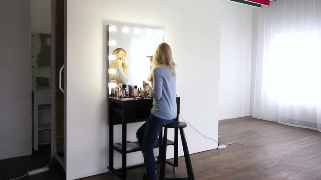 Босс красится! Гримерный стол 190x80 см с ящиком в действии - YouTube