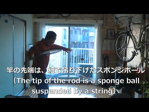 自作のテニス練習機、Handmade tennis training machine