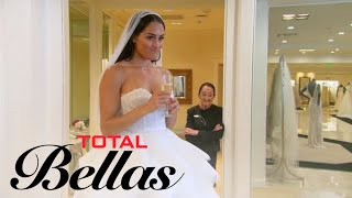 Nikki Bella Doesn't Feel Right Trying on Wedding Dresses | Total Bellas | E! thumbnail