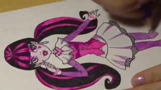 Рисунок фломастером #1: Monster High(Как нарисовать Monster High (Draculaura) Подписывайтесь на новые видео. Наша группа ВКонтакте: vk.com/art____box., 2014-03-25T18:55:38.000Z)