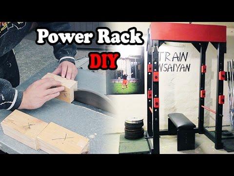 stabiles power rack aus holz selber bauen diy youtube. Black Bedroom Furniture Sets. Home Design Ideas