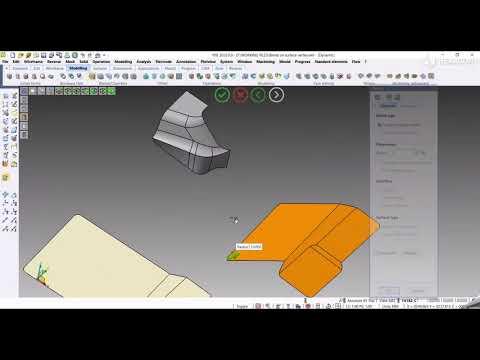 CAD - Blend on corner surface | VISI 2022.0