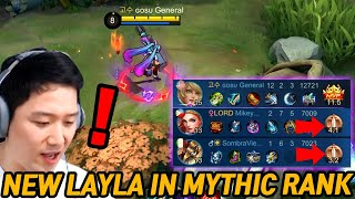 Mythic Glory used Revamped New Layla... but WTF | Mobile Legends