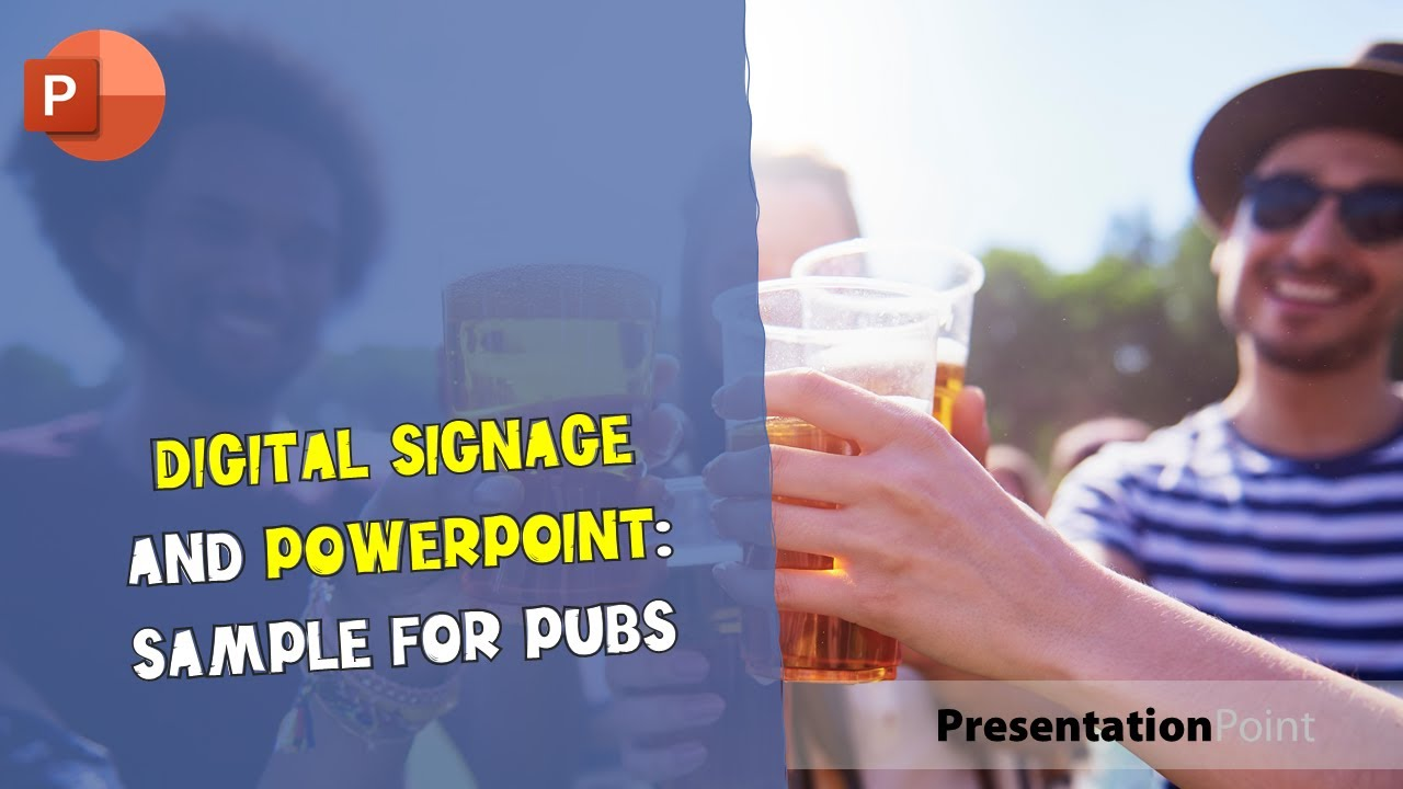 Digital Signage And Powerpoint Sample For Pubs