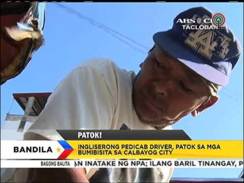 Pedicab driver na nag-iingles, agaw-atensyon sa Calbayog City