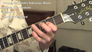 Over Under Sideways Down - guitar lesson