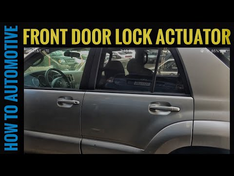 How To Diagnose A Door Lock Actuator On A 2007 Toyota 4
