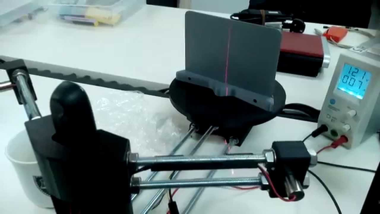 A bq Ciclop Scanner controlled by Arduino UNO and CNC V3 Shield