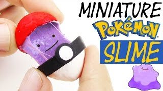 DIY SLIME IDEA POKEMON POKEBALL How to make Ditto slime polymer clay tutorial