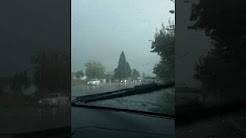 October rain storm in Springfield Oregon