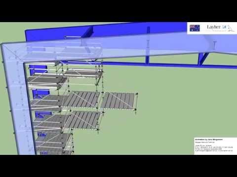 Bridging Scaffold with Layher Allround Diagonals