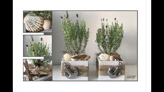 DIY: Dekoidee, Lavendel Duo- Sommerdeko, für den Innen- oder Außenbereich / Deko Jana