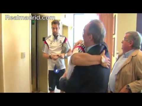 REAL MADRID BEHIND THE SCENES: Florentino Pérez arrives in Michigan