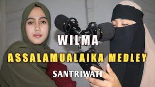 Download Viral Sholawat tiga bahasa 2021 ASSALAMU'ALAIKA MEDLEY   cover WILMA   Santriwati