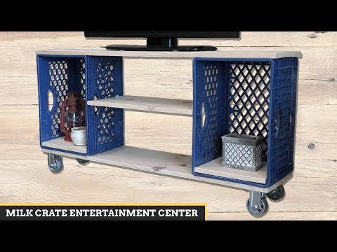 Milk Crate DIY: Entertainment Center