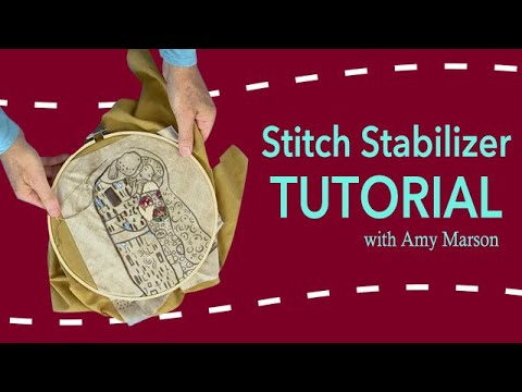 Transfer Embroidery Designs and Stabilize Stitches