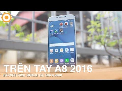 Trên tay Galaxy A8 (2016) - Exynos 7420, Grace UX giá 8.990k.