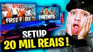 MY NEW 20000 REAL PC GAMER! (FREE FIRE vs FORTNITE)