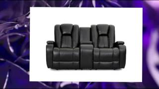 Seatcraft Transformer Reclining Loveseat With Power And Console Black