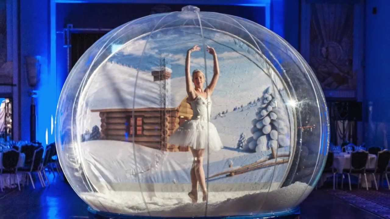 giant snow globe hire youtube - Large Christmas Snow Globes