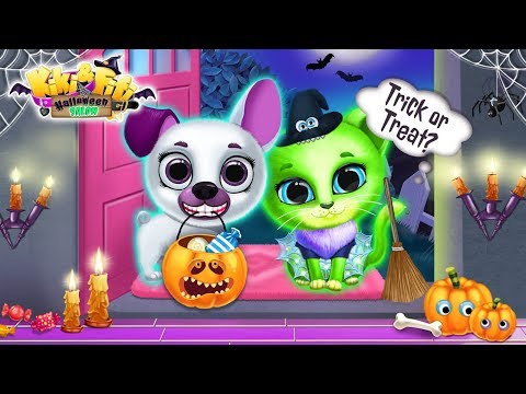 Kiki & Fifi Halloween Salon - Scary Pet Makeover - TutoTOONS Games For Kids