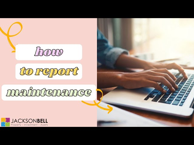 How to report maintenance with JBP