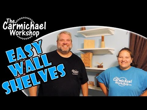 Easy Wall Shelves // How-To Kids Woodworking Project